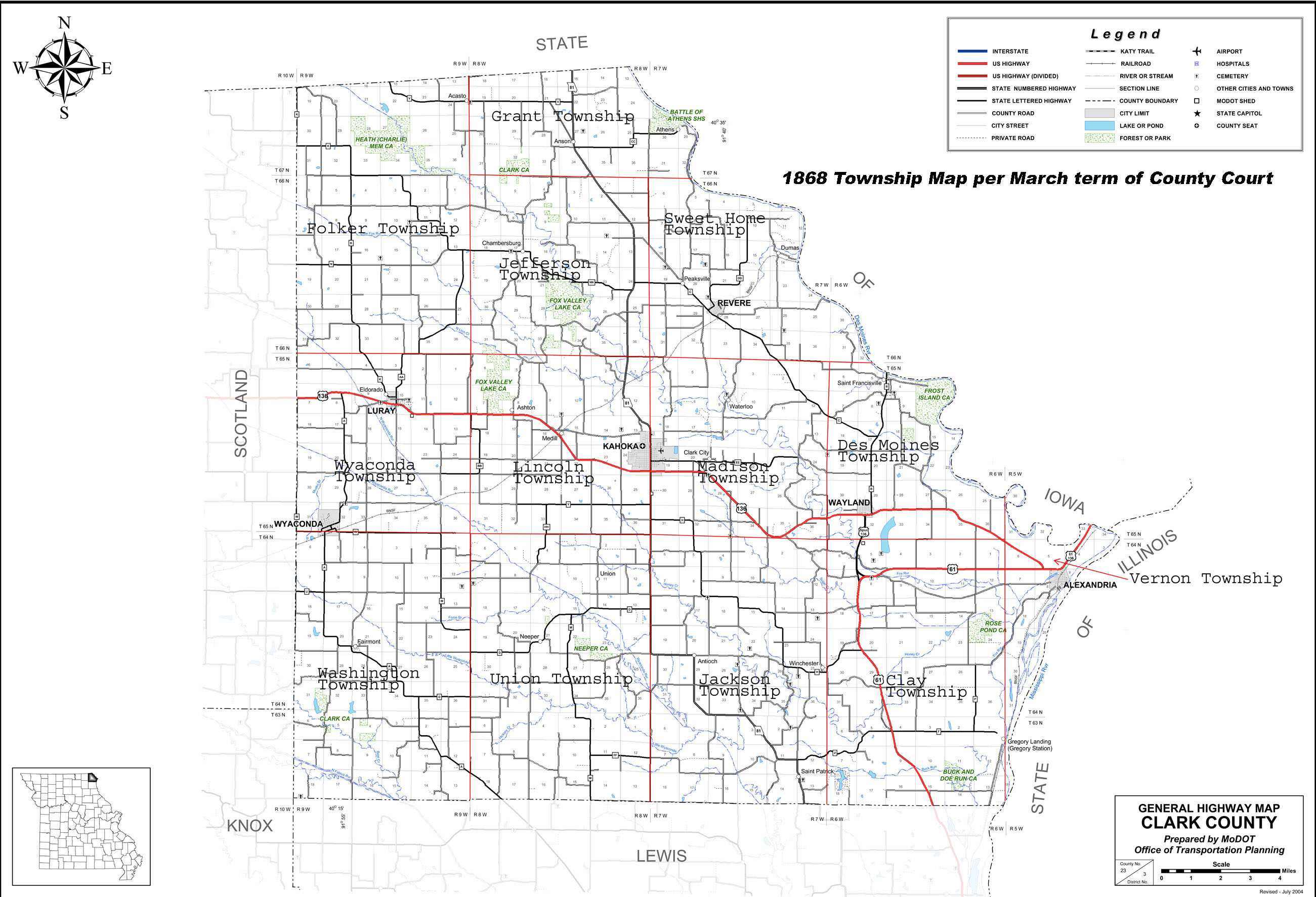 MOGenWeb Project Clark Co Township Maps